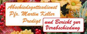 Abschiedsgottesdienst Pfr. Martin Keller